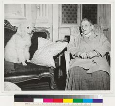 """""""Gertrude Stein with famous dog Basket."""""""