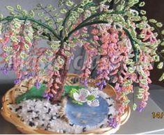 Цветущее дерево из бисера. Мастер класс с пошаговыми фото