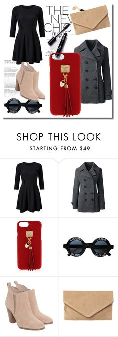 """""""New Chic"""" by charlese-b ❤ liked on Polyvore featuring Miss Selfridge, Lands' End, Henri Bendel, Chanel, Michael Kors, MR. and newchic"""