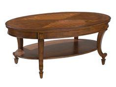 Aidan Traditional Cinnamon Wood Oval Cocktail Table