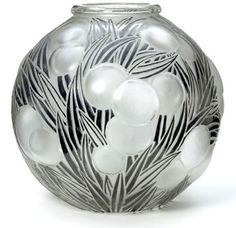 Lalique oranges vase