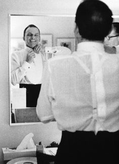 Frank Sinatra in the Dressing room.