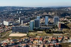 Northern Marseille, modern architecture next to the hills.