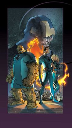 Ultimate Fantastic Four #38 cover by Pasqual Ferry