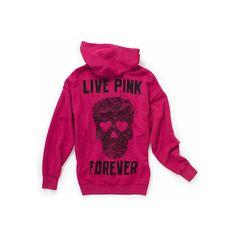 Victoria's Secret Pink® Oversized zip hoodie - Polyvore