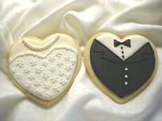 cute royal icing sugar cookies... wedding