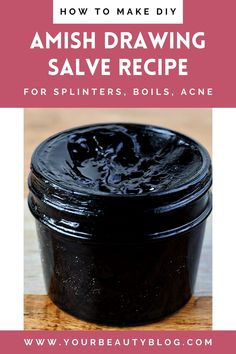 Natural Health Remedies, Herbal Remedies, Natural Medicine, Herbal Medicine, Black Drawing Salve, Charcoal Drawing, Salve Recipes, Diy Beauté, Beauty Recipe