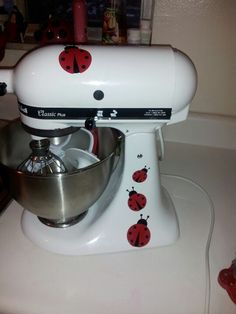 Kitchen Aide mixer vinyl decals