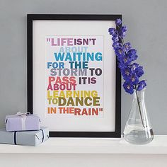 Learning to dance in the rain print £14