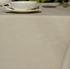 Nappe coton enduit Paillettes or 120x120