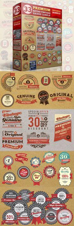 Premium Retro Vintage Badge Label Bundle #transparent #png #vibrant #retro • Available here → https://graphicriver.net/item/premium-retro-vintage-badge-label-bundle/4573381?ref=pxcr