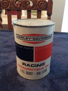 Harley Davidson Racing Motorcycle Oil Can 1qt Rare Collectible Vintage