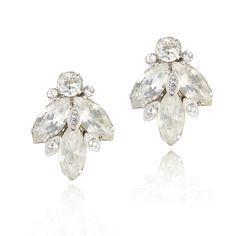 Stunning 1940s #Eisenberg Ice #vintage #clipon earrings. Vintage #bridal earrings. €129. Available @ www.luluandbelle.com