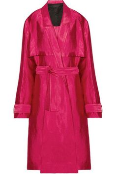 Haider Ackermann - Linen-blend Trench Coat - Red - FR