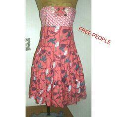 "Spotted while shopping on Poshmark: ""Free People strapless dress size 10""! #poshmark #fashion #shopping #style #Free People #Dresses & Skirts"