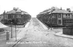 Beechwood Avenue, Mutley, Plymouth c 1910 where Henry Barratt lived with his family until his death in Plymouth Hoe, Plymouth England, Old Pictures, Old Photos, Vintage Photos, Devon Uk, Devon England, Victorian Terrace House, Ocean City