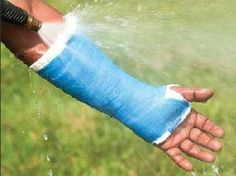 Order waterproof cast padding and take to your doctor for application.  They don't stock this in their office.  Keep your cast clean and sanitary.  You can shower and swim with this cast.