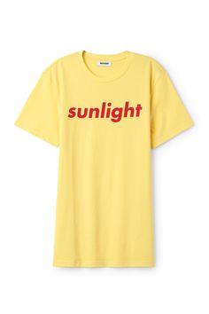 Weekday image 1 of Alan Pride T-Shirt in Yellow Light
