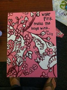 Alpha Phi Lilly Print Painted Canvas