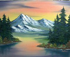 bob ross mountains - Google Search