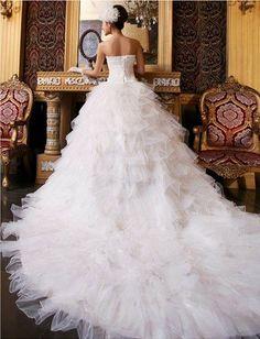 DD2 Princess elegant bind strapless gown with luxurious big tail wedding dress (White,XL) DD2,http://www.amazon.com/dp/B00GIEFNFE/ref=cm_sw_r_pi_dp_9JtLsb18GXE053Y7