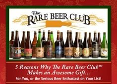 5 Reasons The Microbrewed Beer of the Month Club and Rare Beer Club make solid gifts Beer Of The Month, Great British Food, Beer Online, Beer Club, Buy Beer, Oktoberfest Party, Man Birthday, Birthday Ideas, Last Minute Gifts