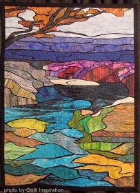 Quilt Inspiration: West Coast Wonders - Tributary by Phyllis Cullin