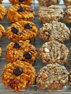 2 ingredient cookies! Pumpkin and oats or banana and oats (with some mix in options).