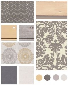 The Distinctive Cottage | Color Board: Grey & Yellow | The Distinctive Cottage