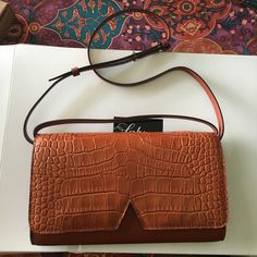 Vince Signature Croc-Embossed Crossbody Embossed leather mini purse. Never worn and new with tags :) offers welcomed! Vince Bags Crossbody Bags