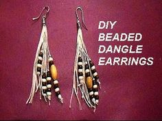 diy Beaded Dangle on string earrings - Jewelry Making - YouTube