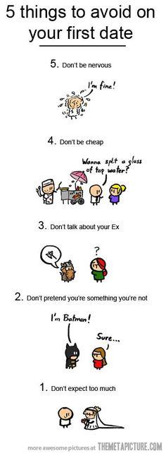 "Some Dating Advice…hahaha I love the...""I'm batman...Sure."" Lol"