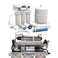 Sistema osmosi inversa con  UV accumulo pomba e rubinetto