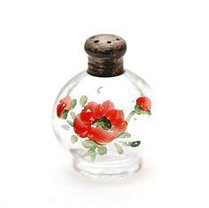 Painted Poppy Tiny Salt Shaker by VintageLancaster on Etsy 4$