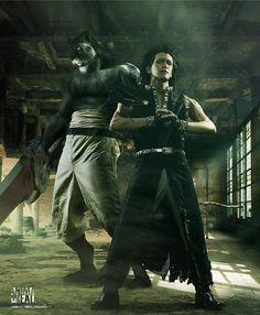 Wooooooooooooowww. Gajeel Redfox and Pantherlily. Did someone actually cosplay this?!!