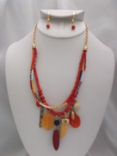Visit: hipandcoolcliponearringstwo.com and receive up to 30% off. ORANGE MULTI STRAND NECKLACE & CLIP ON EARRING SET  $17.99 http://hipandcoolcliponearringstwo.com