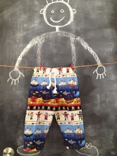 Aaarrgghh Pirate Lounge Pants in Size 1824 by BabySuzannaJohanna, $18.00