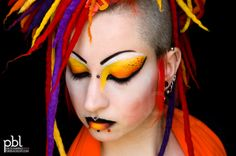 Fire up your hair for an EXPLOSIVE night! Welcome to a Guy Fawkes/bonfire night special! Lets bring out the sparklers, and light up the night with some explosive hair styles and fiery colours… Read more: www.rainbowhaircolour.com #firehair