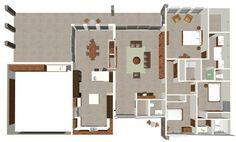modern house floorplan - love this plan with a few tweaks