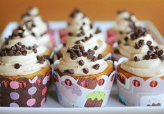 Cookie Dough Cupcakes. The frosting sounds good!