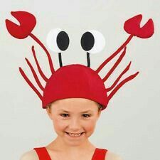 3 d red crabs lobster hat, Christmas, Halloween costume party anime Cosplay, funny props,Costumes & Accessories & Hats Costume Alice, Crab Costume, Dance Costume, Lobster Costume, Fancy Dress Under The Sea, Under The Sea Party, Crazy Hat Day, Crazy Hats, Children Costumes