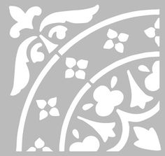 Stencil Patterns, Stencil Designs, Painting Patterns, Tile Patterns, Stencil Printing, Whole Cloth Quilts, Islamic Patterns, Silhouette Curio, Stenciled Floor