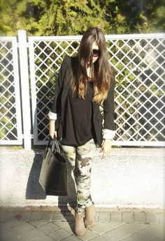 Zara in Blazers, Bershka in Leggings, Bershka in Ankle Boots / Booties, Zara in Bags