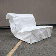 Poltrona saco de papel