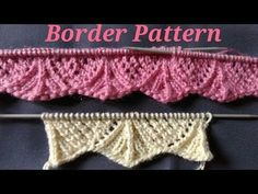 Welcome in my Smart knitting channel. Today i will show you some new Border pattern.This pattern is so easy to knit.This is Zigzag border patt. Knitting Paterns, Knitting Videos, Knitting Stitches, Knit Patterns, Free Knitting, Baby Knitting, Stitch Patterns, Border Pattern, Border Design