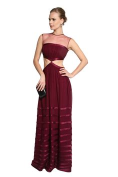 Dress & Go - Aluguel de vestidos de grandes estilistas | Vestido Abertura Cintura Georgete