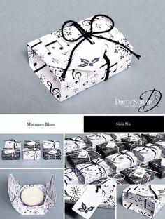 Stampin'Up! by Djudi'Scrap - Tutoriel Swaps Boîtes Origami Bougie «Papier Musique Joyeuse / Merry Music Paper»
