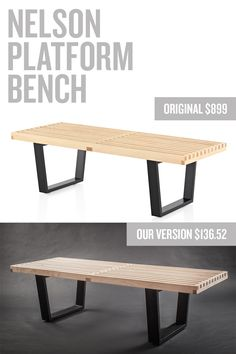 West elm benches and tutorials on pinterest - Modern furniture knock offs ...