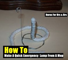 How To Make A Quick Emergency Lamp From A Mop - SHTF Preparedness
