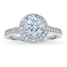 Pave Engagement Ring Settings | Jared Design-A-Ring Setting price w/o center stone $1695   1/6ctw
